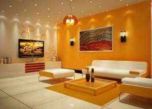 Salon Dekorasyonunda Turuncu Renkler